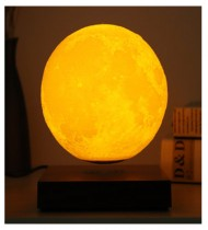 3D moon lamp with wooden stand