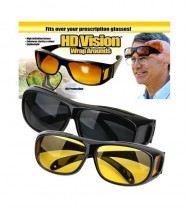 HD Night Vision Wrap Arounds Driving Sunglasses
