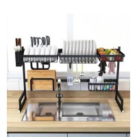 Dish Drying Rack, 2 Cutlery Holders Drainer Shelf for Kitchen Supplies Storage