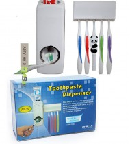 Automatic Toothpaste Dispenser 5 Toothbrush Holder